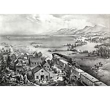 Across the continent, Westward the course of empire takes its way - 1868 Photographic Print