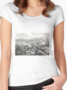 Across the continent, Westward the course of empire takes its way - 1868 Women's Fitted Scoop T-Shirt