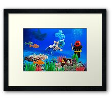 Scuba Divers Framed Print