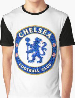 Chelsea FC Tile Pattern  Graphic T-Shirt