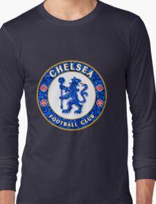 Chelsea FC Tile Pattern  Long Sleeve T-Shirt