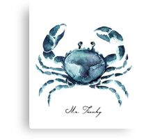 Mr. Franky the Crab Canvas Print