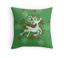Prancing In The Snow Throw Pillow