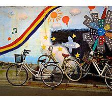 tokyo bicycle and rainbow Photographic Print