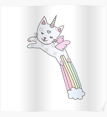 Rainbow Cat Poster