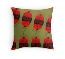 Fury bon bons Throw Pillow