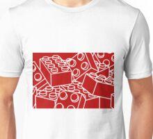 Red with white bricks Unisex T-Shirt