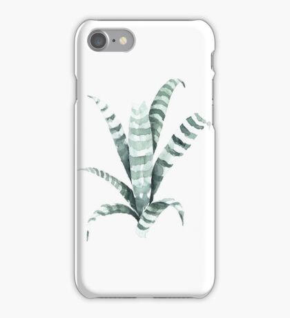 Tiger Plant Watercolor Painting iPhone Case/Skin