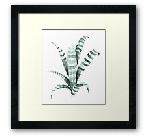 Tiger Plant Watercolor Painting Framed Print