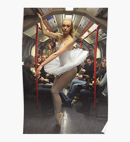 10. Street Ballerina - Central Line, London Poster
