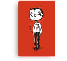 Naughty Hipster Businessman Canvas Print