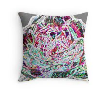 Rose with a twist - abstract Throw Pillow