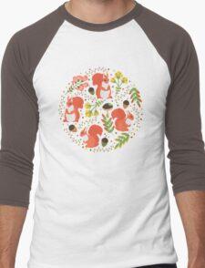 Squirrels Men's Baseball ¾ T-Shirt