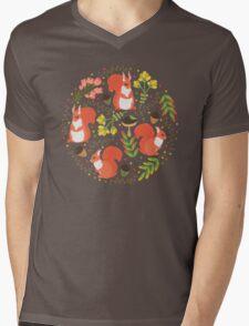 Squirrels Mens V-Neck T-Shirt