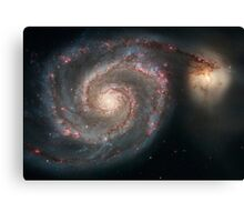 The whirlpool galaxy (M51) and companion galaxy. Canvas Print