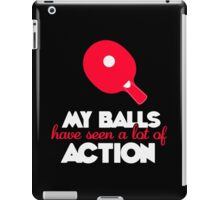 My balls have seen a lot of action! iPad Case/Skin