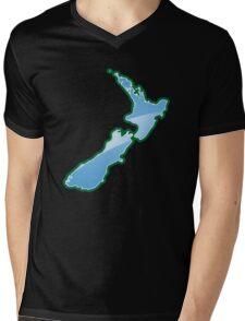 NEW ZEALAND trendy map island Mens V-Neck T-Shirt