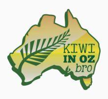KIWI in OZ BRO! (Australia) Aussie map Kids Tee