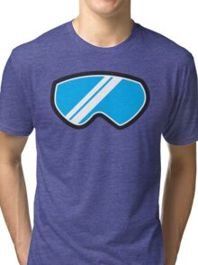 Winter SNOW Goggles  Tri-blend T-Shirt