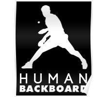 Human blackboard! Poster