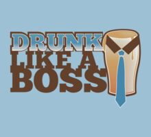 DRUNK like a Boss with a work tie Kids Tee