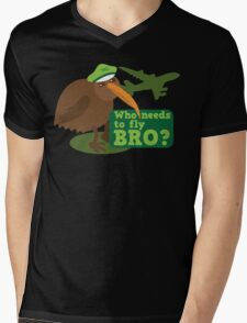 Who needs to FLY Bro? Non flying kiwi bird Mens V-Neck T-Shirt
