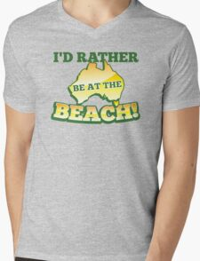 I'd rather be at the BEACH with aussie Australian map T-Shirt