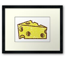 Swiss cheese distressed Framed Print