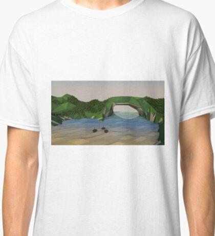 Low Poly Mountainpass Classic T-Shirt