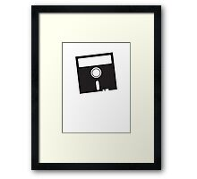 3 INCH Floppy Disk DRIVE Old skool geekery Framed Print