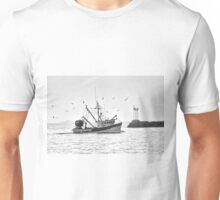 In Harbor B&W Unisex T-Shirt