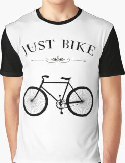 JUST BIKE Cycling retro White Vintage Graphic T-Shirt