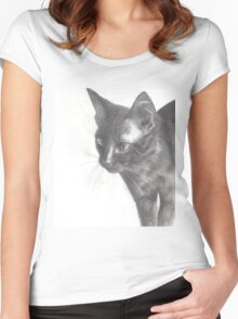 Minxie the Cat Women's Fitted Scoop T-Shirt