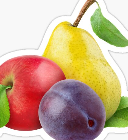Apple, pear and plum Sticker