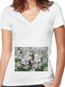 Bees Bottoms Women's Fitted V-Neck T-Shirt