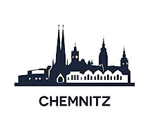 Chemnitz City Skyline, dark Photographic Print