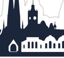 Chemnitz City Skyline, dark Sticker