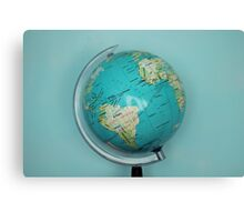 Globe and blue background Canvas Print
