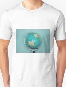 Globe and blue background Unisex T-Shirt