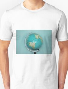 Globe and blue background T-Shirt