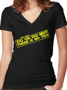There is No Try Women's Fitted V-Neck T-Shirt