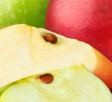 Green and red apples Sticker