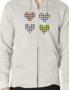 Subliminal Pulsating Hearts Zipped Hoodie