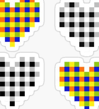 Subliminal Pulsating Hearts Sticker