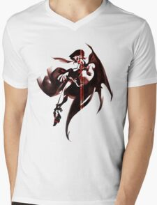 Remi Abstract Red Mens V-Neck T-Shirt