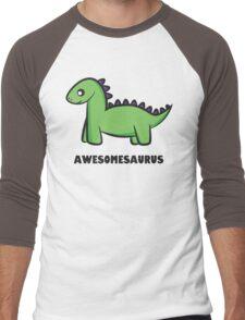 Awesomesaurus (green) Men's Baseball ¾ T-Shirt