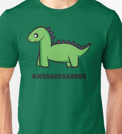 Awesomesaurus (green) Unisex T-Shirt
