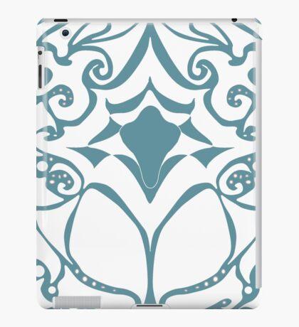 Pattern Series: White and Teal Swirl iPad Case/Skin