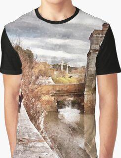 Rome: Tiber River bridge Graphic T-Shirt