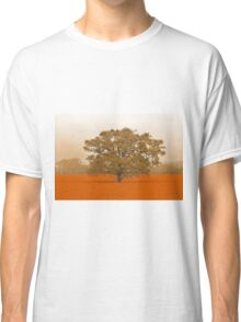 Autumn Tree In A Field Of Orange Classic T-Shirt